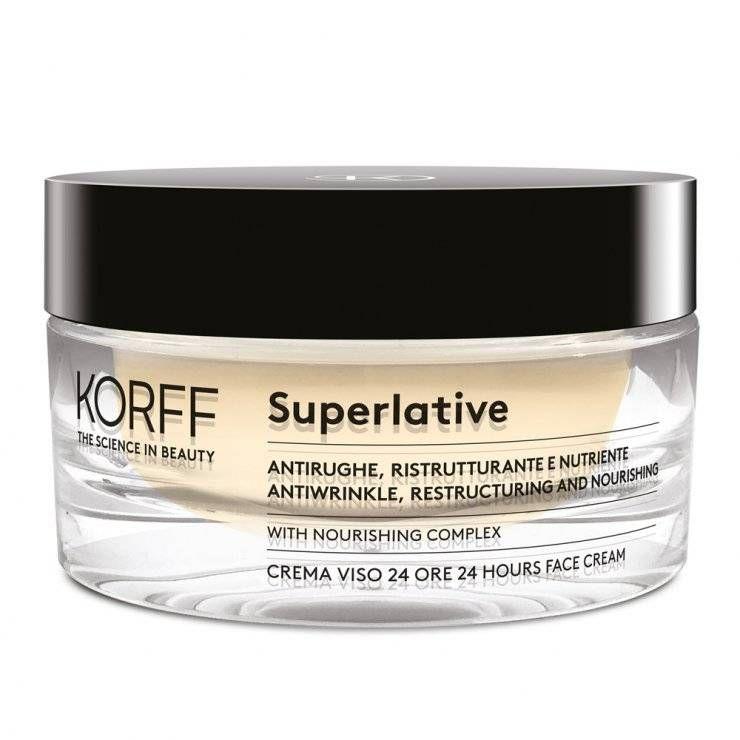 Superlative Crema Viso 24 Ore - Korff - 50ml - Crema antirughe nutriente e rassodante