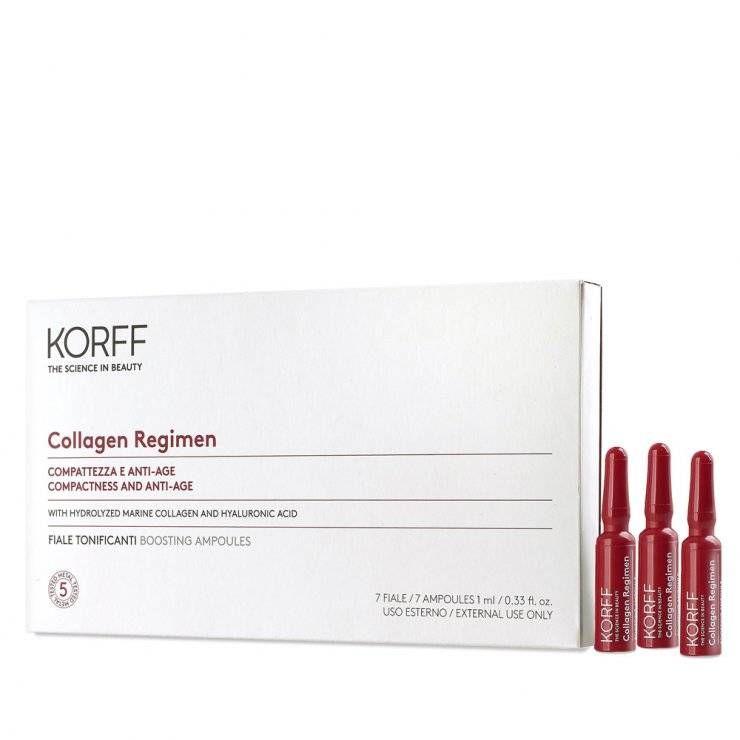Collagen Regimen - Korff - 7 fiale tonificanti - integratore di collagene e acido ialuronico