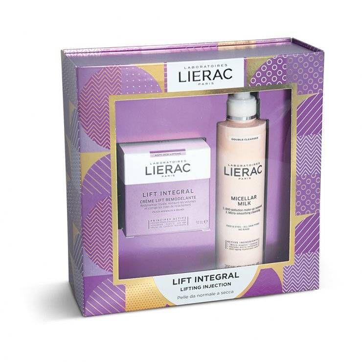 Lierac Cofanetto Lift Integral Crema Liftante 50ml + Latte Micellare Struccante 200ml