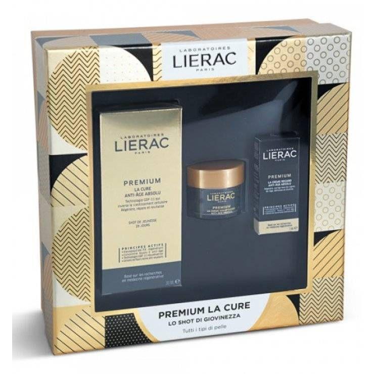 Lierac Premium-Cofanetto La Cure 30ml Crema 15ml Trattamento Occhi 3ml