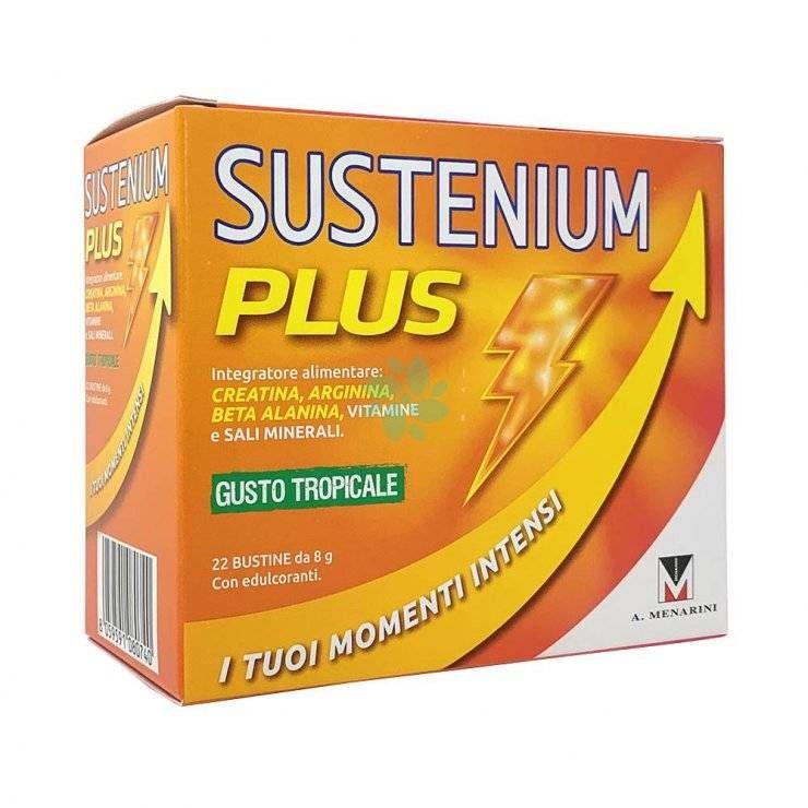 Sustenium plus Gusto Tropicale 22 Bustine - Integratore di sali minerali