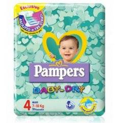 PAMPERS BABY DRY DOWNCOUNT MAX