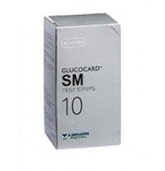 GLUCOCARD SM TEST STRIPS 10PZ