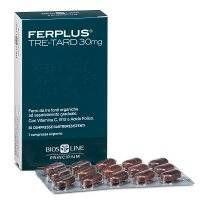 FerPlus Tre-tard 30MG - Bios Line - 30 compresse - Integratore di ferro e Vit B12