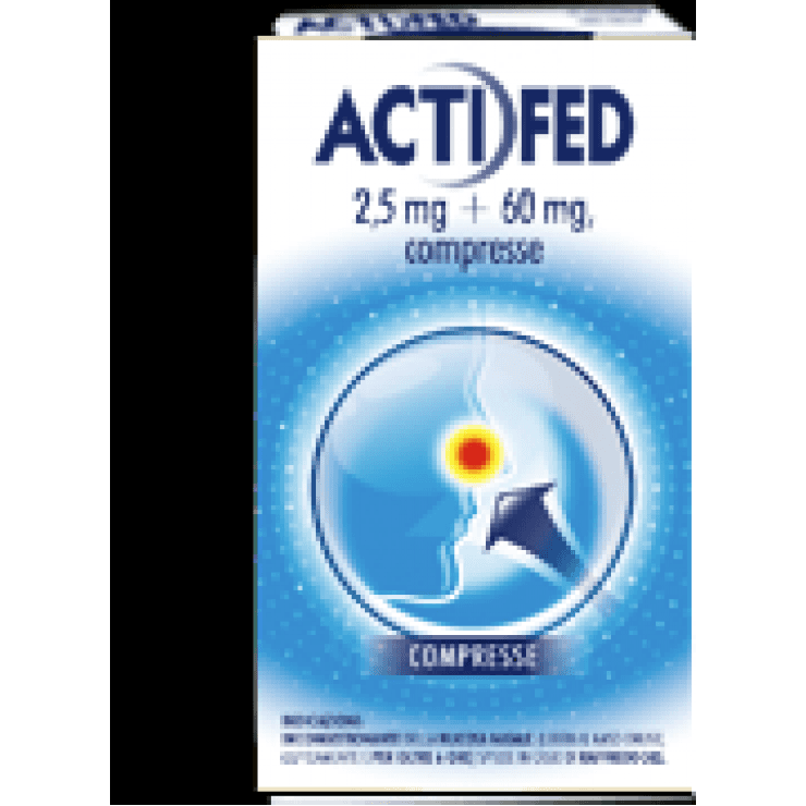 ACTIFED 12CPR 2,5MG+60MG