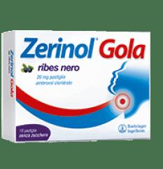 ZERINOL GOLA RIBES 18PAST 20MG
