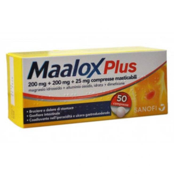 MAALOX PLUS 50CPR MAST