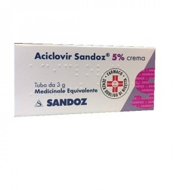 ACICLOVIR SAND CREMA 3G 5%