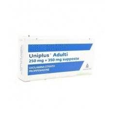 UNIPLUS AD 10SUPP 250MG+350MG