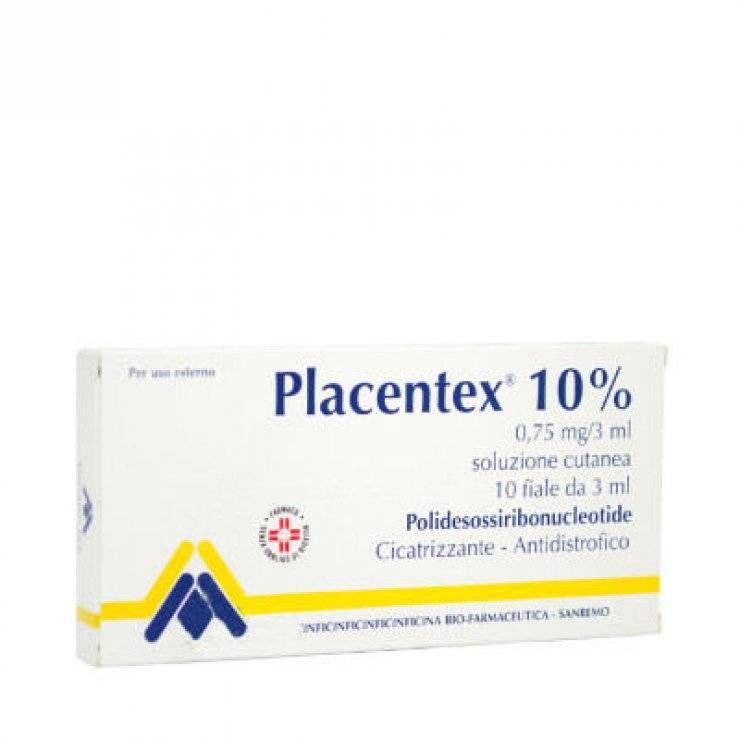 PLACENTEX SOL CUT 10F 0,75MG