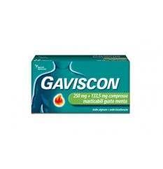GAVISCON 48CPR MENT250+133,5MG