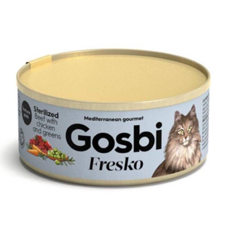 GOSBI FRESKO CAT ST BEEF/CH/GR